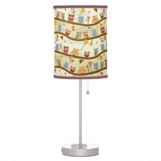 autumn owls desk lamp