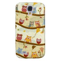 autumn owls samsung s4 case