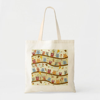 autumn owls tote bag