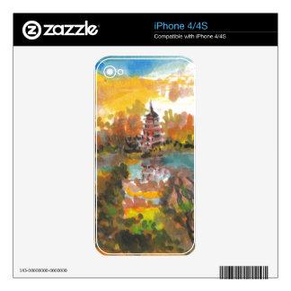 Autumn Pagoda iPhone 4 Decal