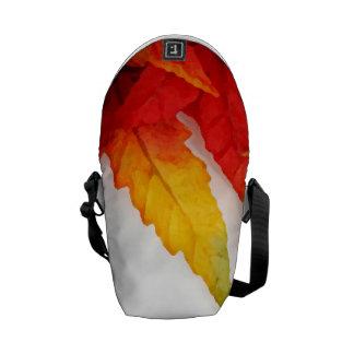 Autumn Painterly Leaf Courier Bags