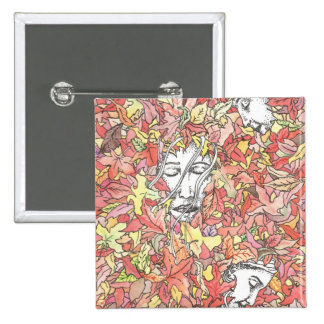 Autumn Painting 2 Inch Square Button