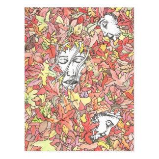 Autumn Painting Postcard