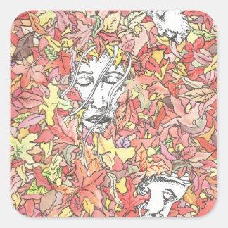 Autumn Painting Square Sticker