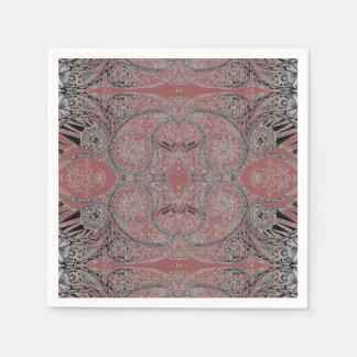 Autumn Paisley Patterned Paper Napkin