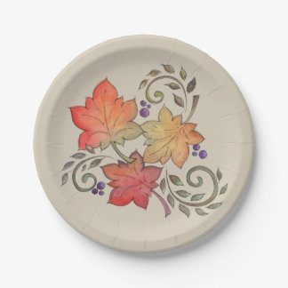 Autumn Paper Plate