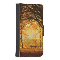 Autumn park iPhone 5 wallets