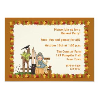 Autumn Party 5x7 Paper Invitation Card