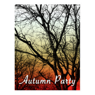 autumn party : ghost tree postcard
