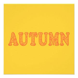 Autumn Party Invitations