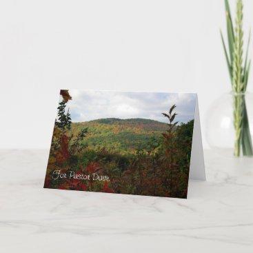 Autumn Pastor Appreciation Card