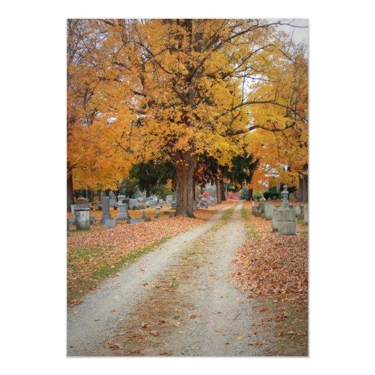 Autumn path card