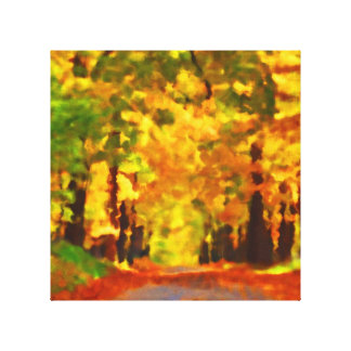 Autumn path gallery wrap canvas