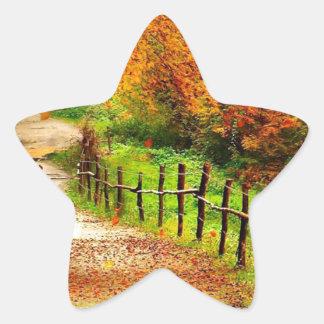 Autumn Path Star Sticker