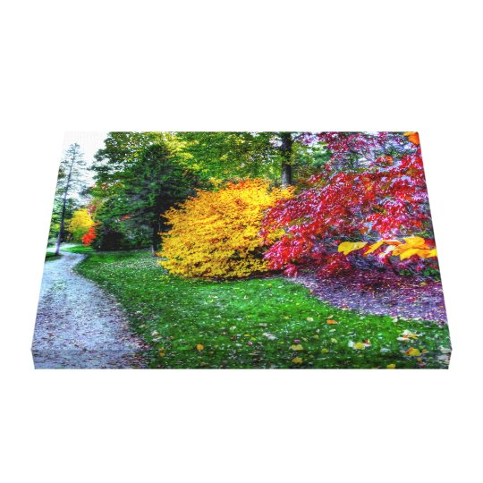AUTUMN PATH - Wrapped Canvas