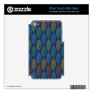 Autumn pattern a decal for iPod touch 4G