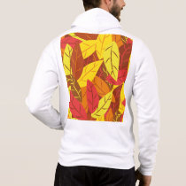Autumn pattern colored warm leaves hoodie