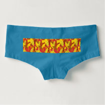 Autumn pattern colored warm leaves hot shorts