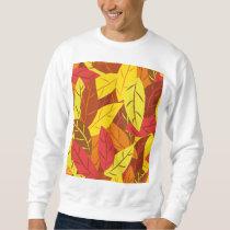 Autumn pattern colored warm leaves sweatshirt