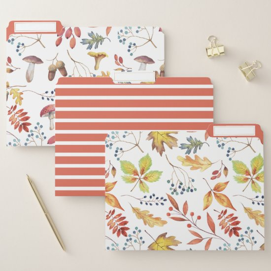 Autumn Pattern File Folder
