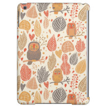 Autumn pattern. Owls in the forest Cover For iPad Air