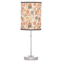 Autumn pattern. Owls in the forest Desk Lamp