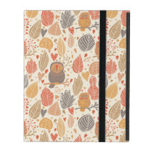 Autumn pattern. Owls in the forest iPad Cover