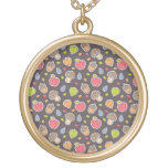 autumn pattern personalized necklace