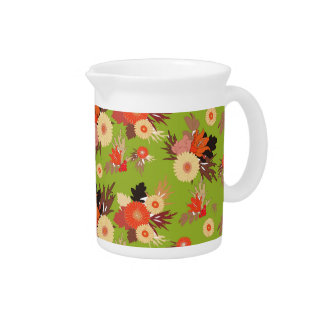 Autumn Patterns Drink Pitcher