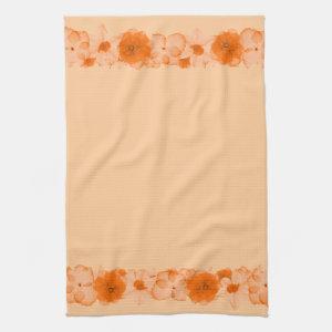 Autumn Peach Kitchen Towels