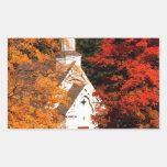Autumn Peaking Color Vermont Rectangular Sticker