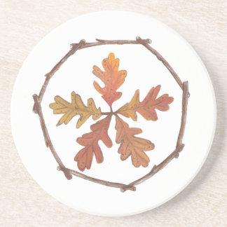 Autumn pentagram coaster