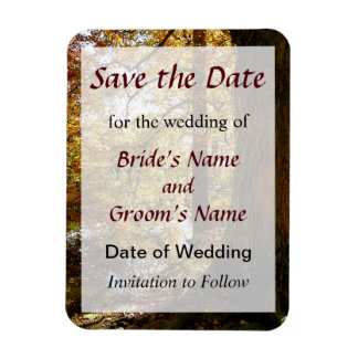 Autumn Perspective Save the Date Magnet