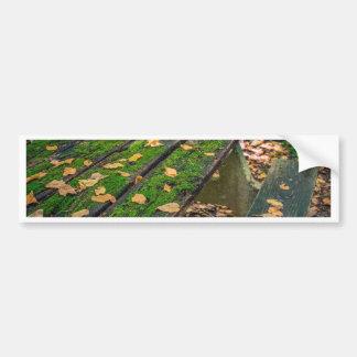 Autumn Picnic Table Bumper Sticker
