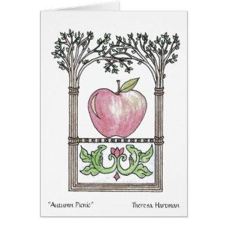 """""""Autumn Picnic""""  Theresa Hartman Card"""