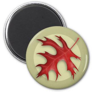 Autumn Pin Oak Leaf Magnet
