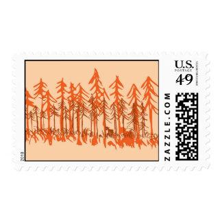 Autumn Pine Postage