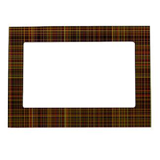 Autumn Plaid Magnetic Photo Frame