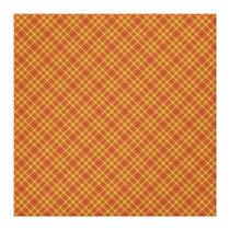 Autumn Plaid Pattern Design Texture Canvas Print