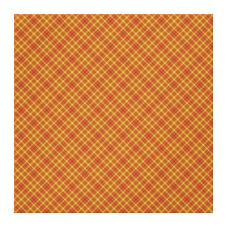 Autumn Plaid Pattern Design Texture Canvas Print