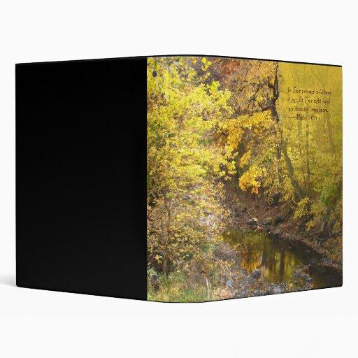 Autumn Pleasures Woodland Vinyl Binders