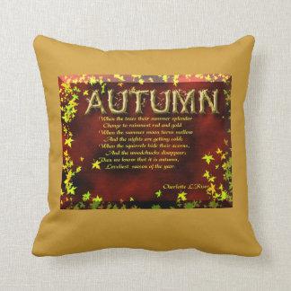Autumn poem pillow