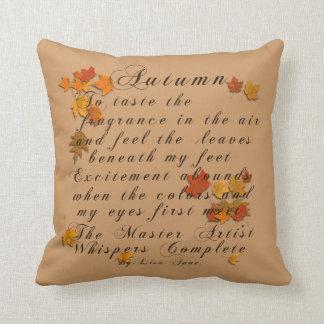 Autumn Poem Throw Pillow