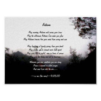 Autumn/Poetry by Robert S Reo Poster