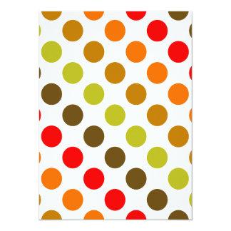 Autumn Polka Dot Stripes Card