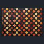 "Autumn Polka Dots Cloth Placemat<br><div class=""desc"">polka dot pattern in autumn colors</div>"