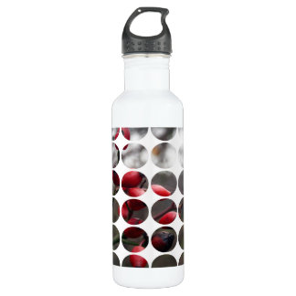 Autumn Polka Dots Red Berries Stainless Steel Water Bottle