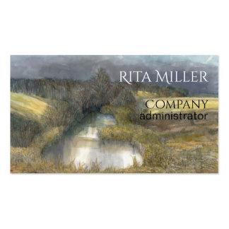 autumn pond business card