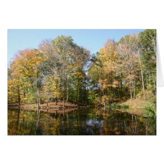 Autumn Pond Card