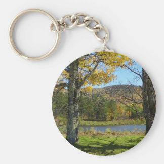 Autumn Pond Keychain
